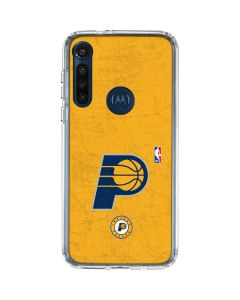 Indiana Pacers Distressed Moto G8 Power Clear Case