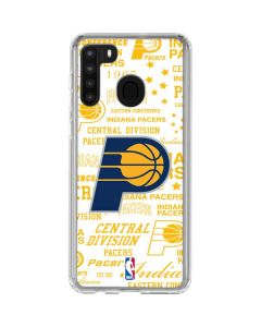 Indiana Pacers Historic Blast Galaxy A21 Clear Case