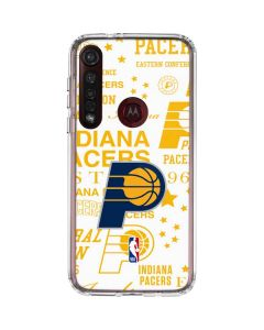 Indiana Pacers Historic Blast Moto G8 Plus Clear Case