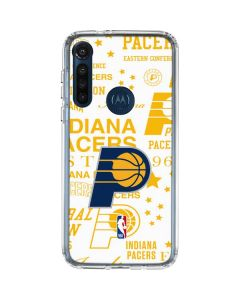 Indiana Pacers Historic Blast Moto G8 Power Clear Case