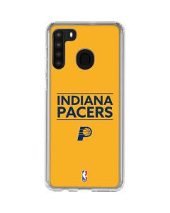 Indiana Pacers Standard - Yellow Galaxy A21 Clear Case