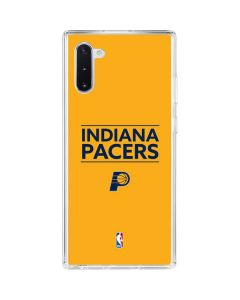 Indiana Pacers Standard - Yellow Galaxy Note 10 Clear Case
