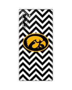 Iowa Hawkeyes Chevron Print Galaxy Note 10 Skin