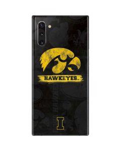 Iowa Hawkeyes Distressed Logo Galaxy Note 10 Skin