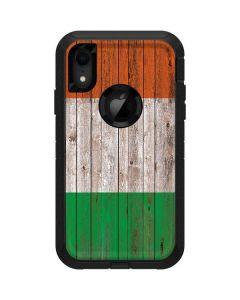 Ireland Flag Dark Wood Otterbox Defender iPhone Skin