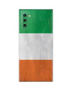 Ireland Flag Distressed Galaxy Note 10 Skin