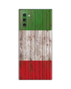Italian Flag Dark Wood Galaxy Note 10 Skin