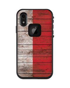 Italian Flag Dark Wood LifeProof Fre iPhone Skin
