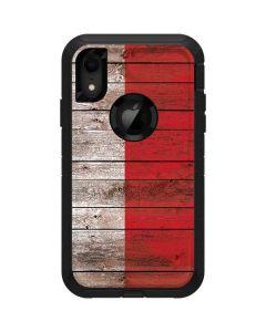 Italian Flag Dark Wood Otterbox Defender iPhone Skin
