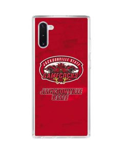 Jacksonville State Gamecocks Red Galaxy Note 10 Clear Case