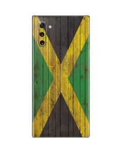 Jamaican Flag Dark Wood Galaxy Note 10 Skin
