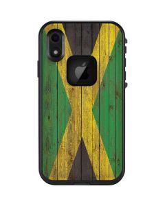 Jamaican Flag Dark Wood LifeProof Fre iPhone Skin