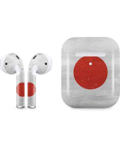 Japanese Flag Distressed Apple AirPods 2 Skin