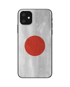 Japanese Flag Distressed iPhone 11 Skin
