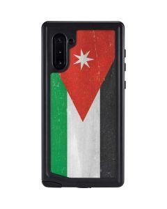 Jordan Flag Distressed Galaxy Note 10 Waterproof Case