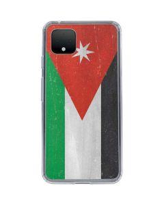 Jordan Flag Distressed Google Pixel 4 XL Clear Case