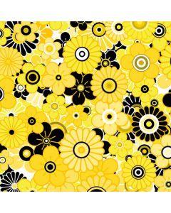 Yellow Flowerbed Amazon Kindle Skin