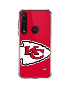 Kansas City Chiefs Large Logo Moto G8 Plus Clear Case