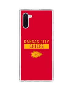 Kansas City Chiefs Red Performance Series Galaxy Note 10 Clear Case