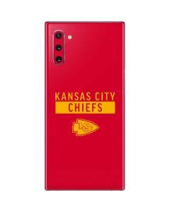 Kansas City Chiefs Red Performance Series Galaxy Note 10 Skin