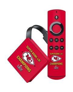 Kansas City Chiefs Super Bowl LIV Champions Amazon Fire TV Skin