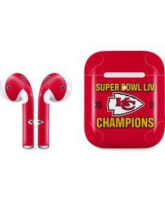 Kansas City Chiefs Super Bowl LIV Champions Apple AirPods 2 Skin
