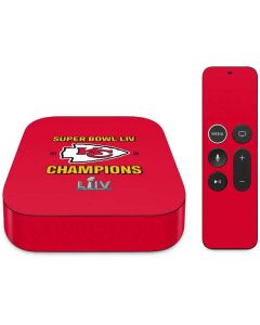 Kansas City Chiefs Super Bowl LIV Champions Apple TV Skin