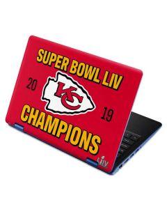 Kansas City Chiefs Super Bowl LIV Champions Aspire R11 11.6in Skin