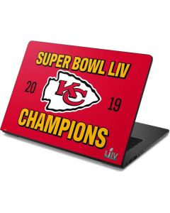 Kansas City Chiefs Super Bowl LIV Champions Dell Chromebook Skin