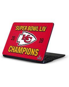 Kansas City Chiefs Super Bowl LIV Champions Samsung Chromebook Skin