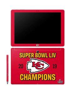 Kansas City Chiefs Super Bowl LIV Champions Galaxy Book 12in Skin
