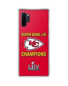 Kansas City Chiefs Super Bowl LIV Champions Galaxy Note 10 Plus Clear Case