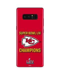Kansas City Chiefs Super Bowl LIV Champions Galaxy Note 8 Skin