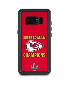 Kansas City Chiefs Super Bowl LIV Champions Galaxy Note 8 Waterproof Case