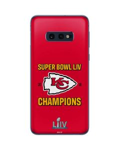 Kansas City Chiefs Super Bowl LIV Champions Galaxy S10e Skin