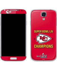 Kansas City Chiefs Super Bowl LIV Champions Galaxy S4 Skin