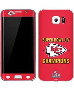Kansas City Chiefs Super Bowl LIV Champions Galaxy S6 Edge Skin