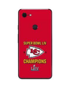 Kansas City Chiefs Super Bowl LIV Champions Google Pixel 3 XL Skin