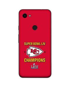 Kansas City Chiefs Super Bowl LIV Champions Google Pixel 3a Skin