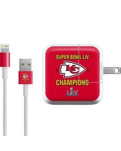 Kansas City Chiefs Super Bowl LIV Champions iPad Charger (10W USB) Skin