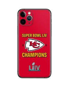 Kansas City Chiefs Super Bowl LIV Champions iPhone 11 Pro Skin