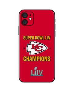 Kansas City Chiefs Super Bowl LIV Champions iPhone 11 Skin