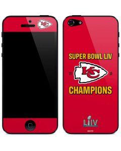 Kansas City Chiefs Super Bowl LIV Champions iPhone 5/5s/SE Skin