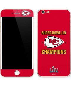 Kansas City Chiefs Super Bowl LIV Champions iPhone 6/6s Plus Skin
