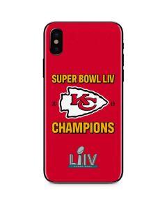 Kansas City Chiefs Super Bowl LIV Champions iPhone XS Max Skin