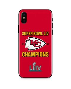 Kansas City Chiefs Super Bowl LIV Champions iPhone XS Skin