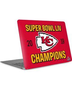 Kansas City Chiefs Super Bowl LIV Champions Apple MacBook Air Skin