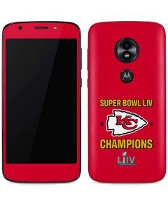Kansas City Chiefs Super Bowl LIV Champions Moto E5 Play Skin