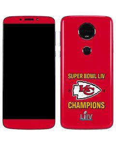 Kansas City Chiefs Super Bowl LIV Champions Moto E5 Plus Skin