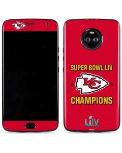Kansas City Chiefs Super Bowl LIV Champions Moto X4 Skin